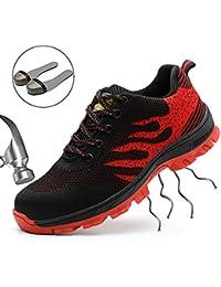 SUADEEX Unisex Scarpe Antinfortunistiche Uomo Donna Scarpe da Lavoro con Punta in Acciaio Scarpe Sportive di Sicurezza Taglia 34-45