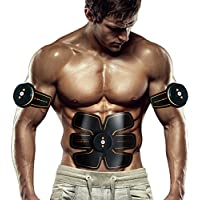 Bauchmuskeltrainer Elektrisch Elektrostimulator Muskel EMS-Training Mann/Frauen Massage-gürtel Elektrostimulation Fettverbrennungn Massage-gerät (Schwarz) preisvergleich bei fajdalomcsillapitas.eu