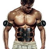 Bauchmuskeltrainer Elektrisch Elektrostimulator Muskel EMS-Training Mann/Frauen Massage-gürtel Elektrostimulation Fettverbrennungn Massage-gerät (Schwarz)