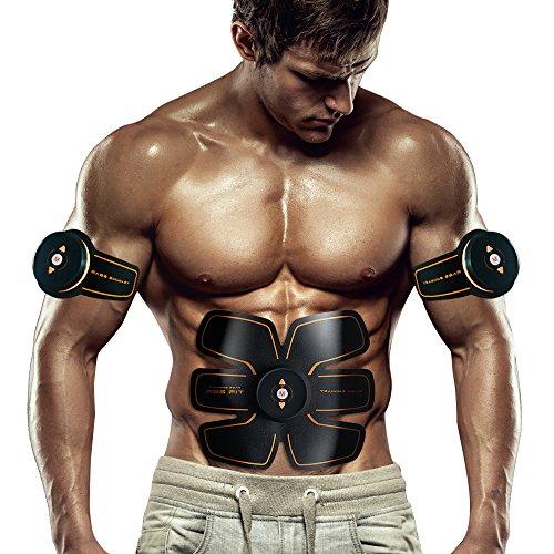 Bauchmuskeltrainer Elektrisch Elektrostimulator Muskel EMS-Training Mann/Frauen Massage-gürtel Elektrostimulation Fettverbrennungn Massage-gerät Weißer Elektrischer Ebene