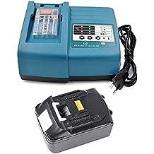 1 X 18V 3.0A 3000mAh Makita BL1830 & 1 x Cargador DC18RA para Makita batería de herramientas eléctricas BL1830 BL1840 BL1850