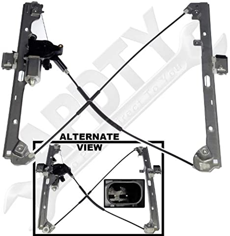 APDTY 852755 Power Window Cable Regulator & Motor Assembly Fits Front Left 1999-2007 Chevrolet Silverado GMC Sierra Pickup 2000-2006 Cadillac Escalade Chevrolet Avalanche Suburban Tahoe Yukon by APDTY