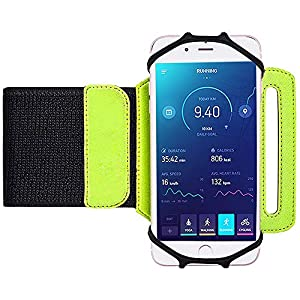 Bovon Universal Sportarmband für iPhone Xr/Xs/X/8/7Plus,Samsung S9/S8 Plus/S7 Edge, Sport Armband fürs Unterarm, 180° Drehbar Handgelenk Sport Handytasche für Joggen Laufen Radfahren Wandern