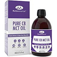 Pure C8 MCT Oil | Boosts Ketones 3X More Than Other MCTs | Highest Purity C8 MCT Available 99.8% | Paleo & Vegan Friendly | Gluten Free | BPA-Free Plastic Bottle | Caprylic Acid | Ketosource®