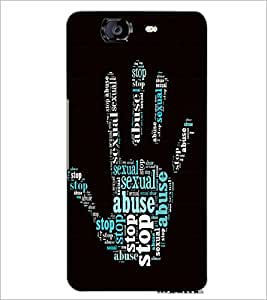 PrintDhaba Typographic Hand D-4766 Back Case Cover for MICROMAX A350 CANVAS KNIGHT (Multi-Coloured)