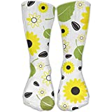 DAICHAI Highly Elastic,Durable, Flexible,Comfortable,Excellent Gift Choice Sunflower Leaves Melon Seeds Long Outdoor chaussettes High Casual chaussette Unisex