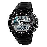 TTLIFE Orologio orologio da polso unisex watch della vigilanza di modo di sport originalità design impermeabile orologio elettronico (Nero)