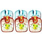 Baby Bibs For Girls And Boys, Set Of 6 Baby Drool Bibs, Super Soft, Waterproof, Newborn Baby Shower Gift, Toddler Girl Boy Bibs (Unisex-Baby, Set Of 6 Multicolor (Orange, Blue))
