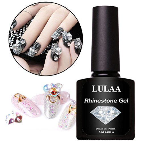 Colle pour ongles en gel UV Smileq, pour strass, nail art, super adhésive, a