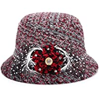 MEICHEN-Retro-colore del colorante in autunno e in inverno Plaid di lana Cappelli Cappello di moda (Patterns Knit Bambini Cappelli)