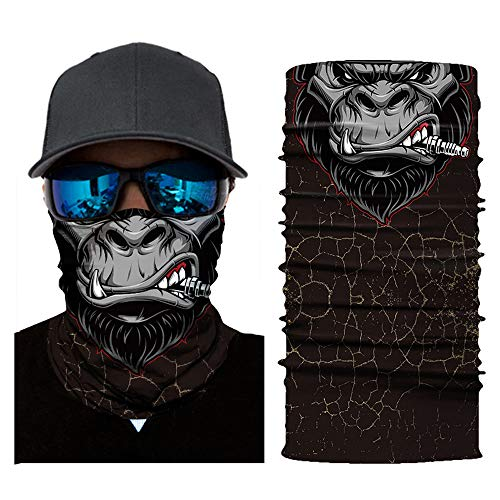 AmyGline Fahrrad Motorrad Hals Schlauch Ski Warmer Schal Gesichtsmaske Sturmhaube Halloween Party