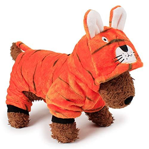 Kostüm Soft Tiger - CITÉTOILE Korallen Fleece Pet Dress Up Netter Hund Kleidung Winter Hoodies Soft Coats Kostüm Tiger L