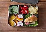 LunchBots Bento Cinco großer Edelstahl Nahrungsmittelbehälter – Fünf Abschnitt Design hält eine Vielzahl von Lebensmitteln – Umweltfreundlich, Spülmaschinenfest und BPA frei – Komplett Aus Edelstahl
