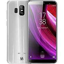 Prosperail HOMTOM S7 Quad Core Android 7.0 4G Telefono con RAM 3 GB ROM Memoria da 32 GB (Argento)