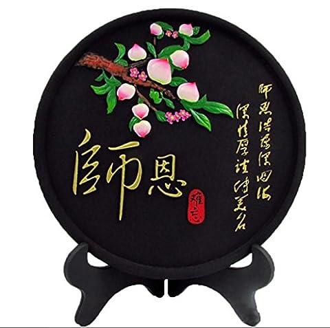 artisanat Prix disque plaque commémorative la sculpture de carbone Décorations Carbon + stent en plastique (Cat Targa Commemorativa)