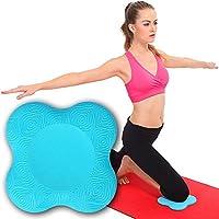 LiebHome - Almohadillas para las rodillas para practicar yoga de que proporcionar sujeción y una superficie acolchada para las rodillas con un diseño ligero y respetuoso con el medio ambiente, azul