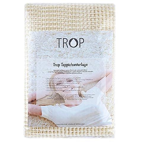 TROP Rutschfeste Teppichunterlage 200 x 80 cm - Antirutschmatte / Rutschschutz / Teppich Stopper / Teppichunterleger - mit 2 Jahren Geld-zurück-Garantie