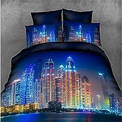 Idea Regalo - PZJ® Set Biancheria da letto, 3D Set comprensivo di microfibra copripiumino per letto matrimoniale e 2 federe, Fodera Per Piumino 2 Persone