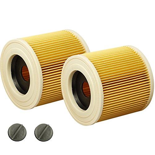 2x Patronen-Filter geeignet für Kärcher WD 3.500 P, A1000, A1001, MV2, MV3 Fireplace Kit