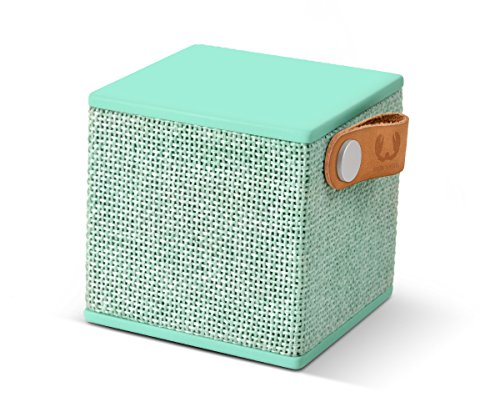 Fresh ´n Rebel -Rockbox Cube Fabriq Edition- tragbarer, kabelloser Lautsprecher mit Bluetooth 4.0, inklusive Micro-USB-Ladekabel, Farbe Peppermint