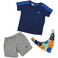 adidas I SU Gift Pack - Conjunto Unisex, Color Azul, Talla 68