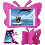 Ipad Mini 1/Mini 2/ Mini 3 Case, Xboun EVA Light Weight Shock Proof Super Protection Kids [Lovely Butterfly Series] Tablet Case Cover Kiddie Funny Cases For Apple Ipad Mini 1/Mini 2/ Mini 3 (Rose)