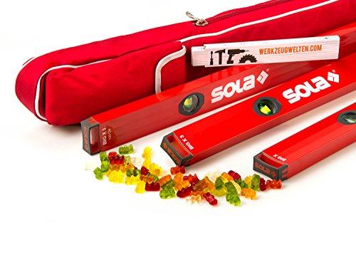 Preisvergleich Produktbild Sola BigX 3er Set 40 / 80 / 120cm in der Schutztasche / Meterstab und Gummibärchen gratis