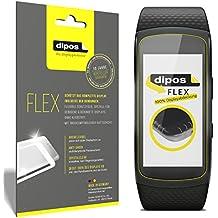 Samsung Gear Fit 2 Protector de Pantalla, cobertura 100% para pantalla, 3x dipos Flex láminas protectoras