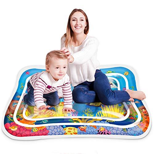 Keten Alfombra Inflable con Agua, Tapete de PVC a Prueba de Fugas para Bebés, Centro de Actividades Divertidas para La Estimulación del Crecimiento de Su Bebé (40'' x 32'')