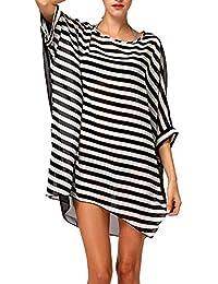 1fafee5753 tuopuda Mujeres Gasa Pareos Playa Manto Protector Solar Larga Vestido Traje  De Baño Bikini Cubierta Hasta