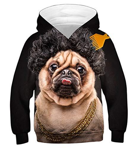 Idgreatim Jungen Mädchen Mit Kapuze Pullover Jumper 3D Gedruckt Unisex Urlaub Hoodie Teen Sweatshirt S (Urlaub Sweatshirts)
