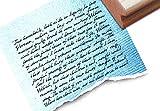 Sehr großer Schriftstempel - T 14 24 - Shabby chic style - Motivstempel - Hintergrundstempel - Textstempel