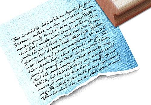 Stempel Groß - großer Stempel - Schriftstempel - T 14 24 - Shabby chic style - Motivstempel - Hintergrundstempel - Textstempel