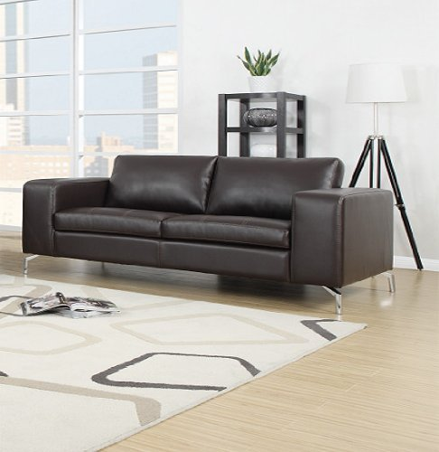Madison Sofa Set 3er & 2er & 1er Wohnlandschaft Braun - 2