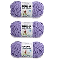 Bernat Bulk Buy Baby Blanket Yarn (3-Pack) Lilac 161103-3320