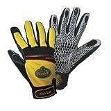 1 Paar Ferdy F. Montage-Handschuhe Non-Slip Mechanics Gelb-Schwarz Größe XL