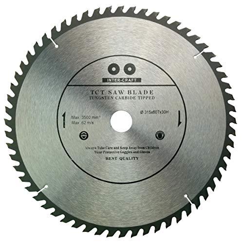 Inter-Craft 315mm Sägeblatt Top Qualität Kreissägeblatt für Holz 315 x 30-25 mm 60 Zähne