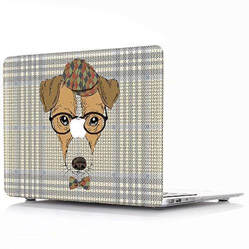 AQYLQ Hülle für 2018 MacBook Air 13 Zoll mit Retina A1932 Hartschale Tasche Schutzhülle Case 13-Zoll MacBook Air Laptop - Brille Hund