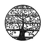 Dazone 5 Etagen Organizer Display Rack Aufbewahrung konzipiert von Tree of Life (Schwarz)