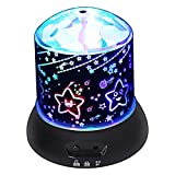 Star Projector Light, Supertech Multi Color Changing 360 Rotating Star and Moon LED Night Light Projector Lamp for Christmas Parties Decorations Kids Children Baby Nursery Adult Gift Black