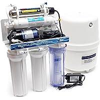Nature water 6-niveles de ósmosis inversa (RO) 180L/día con UV-luz y aumento de la presión de la bomba
