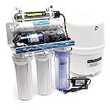 Naturewater 6 Stufen Umkehrosmose RO 180 L/Tag mit UV Klärer und Druckerhöhungspumpe