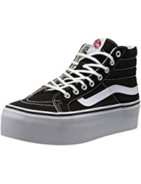 Vans Sk8-Hi Platform Canvas Black White