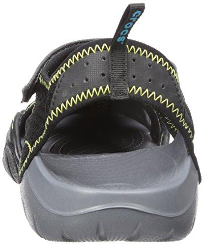 Crocs Swiftwater Sandal, Sandales Bout ouvert homme Noir (Black/Charcoal)