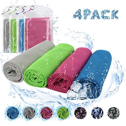 ECOMBOS Kühles Handtuch - Microfaser Handtuch, Kühlhandtuch Sporthandtuch für direkten Cooling, Fitnesshandtuch aus Atmungsaktivem für Sportlichen Gym Yoga Camping Golf Fußball (Handtücher Ziel)