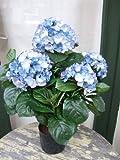 Künstliche Hortensie, blau