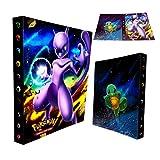 Dorara Classeur pour Cartes Pokemon, Albums Pokemon GX EX Trainer, Albums de Cartes à Collectionner, 30 Pages Peut contenir jusqu'à 240 Cartes, (Mewtwo)