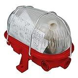 OVAL Kellerlampe Kellerleuchte Schiffsarmatur max. 60W E27 rot 221170