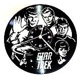 Instant Karma Wanduhr mit Vinyl-Schallplatte, Vintage-Geschenk, Handgefertigt Movie STAR TREK