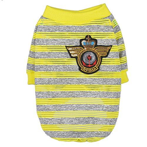 QtiPet Haustier-Pyjama für Welpen, bezaubernd, gestreift, bequem, weiche ()